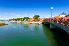Beautiful seascape in Grado, Italy. Beautiful summer scene in the city centre of Grado, Italy Stock Photos