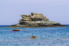 Beautiful seascape in Greece Royalty Free Stock Photos