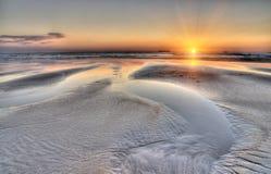 Beautiful seascape image. Beautiful seascape sunset image, lots of foreground interest stock image
