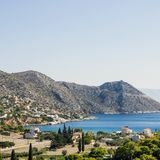 Beautiful seascape on the island of Salamis, Greece, Mediterrane. An sea Royalty Free Stock Image