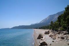 Beautiful seascape of mediterranean waters Stock Photos