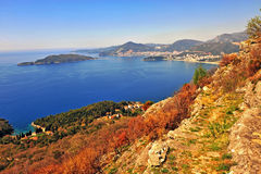 Beautiful seascape of Montenegro riviera Royalty Free Stock Images