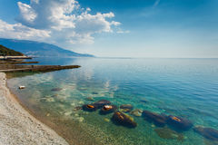 Beautiful seascape in morning on coast of Crimea Royalty Free Stock Photos