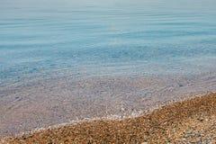 Beautiful seascape in morning on coast of Crimea Stock Photo