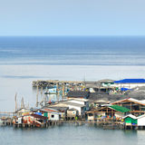Beautiful seascape in morning time with fisherman village Royalty Free Stock Image