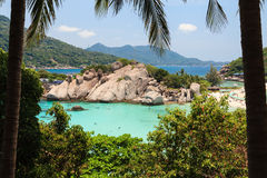 Beautiful seascape at Nang Yuan island Royalty Free Stock Photography