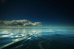 Beautiful seascape. Natural composition of nature. Beautiful seascape evening sea horizon and sky. Tranquil scene. Natural composition of nature royalty free stock image