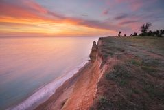 Beautiful seascape nature cliff stock images