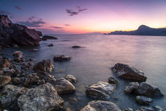 Beautiful seascape. Nature composition of sunset. Beautiful seascape. Nature composition on sunset stock photography