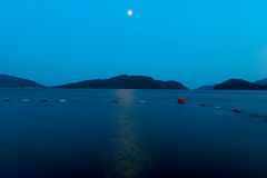 Beautiful seascape at night Royalty Free Stock Photography