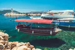 A beautiful seascape off the coast of the ancient city of Knidos royalty free stock photo