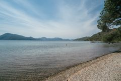 A beautiful seascape off the coast of Turkey stock photos