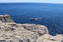 Seascape of Lokrum island Stock Image
