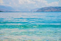 Beautiful seascape panorama. Composition of nature. Clear blue water.National Marine Park,Seascape background,summer sea royalty free stock images