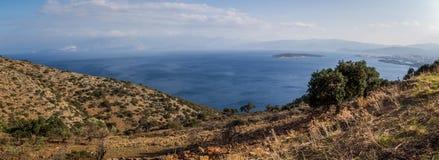 Beautiful seascape panorama, Crete, Greece Stock Image