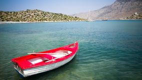 Boat and beautiful sea, royalty free stock image