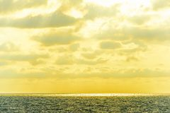 Seascape cloudscape landscape sunrise shot Royalty Free Stock Images