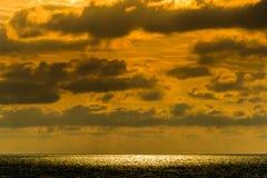Seascape cloudscape landscape sunrise shot Royalty Free Stock Photo