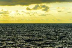 Seascape cloudscape landscape sunrise shot Stock Image
