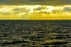 Seascape cloudscape landscape sunrise shot Stock Photo