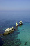 Beautiful seascape with rocks Stock Image