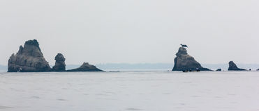 Beautiful seascape with rocks in Matsushima, Japan. Stock Photography