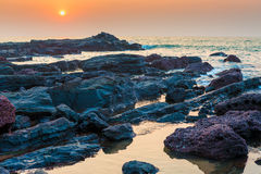 Beautiful seascape and rocky shore Royalty Free Stock Photography