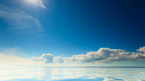 Beautiful seascape sea horizon and sky. Royalty Free Stock Image