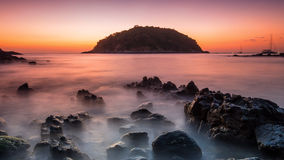 Beautiful seascape. Sea and rock Yah nui beach Phuket Royalty Free Stock Image