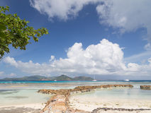 Beautiful seascape in Seychelles Stock Images