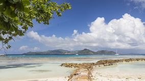 Beautiful seascape, Seychelles royalty free stock image