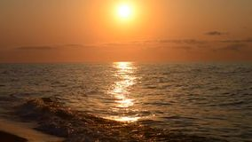 Beautiful seascape sunrise and sunset with the horizon stock video