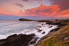 Beautiful seascape sunset Stock Photos