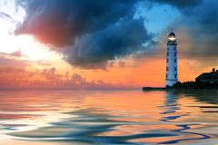 Beautiful seascape at the sunset Royalty Free Stock Photo