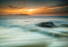 Beautiful seascape at sunset. Royalty Free Stock Photography