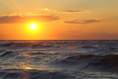 Beautiful seascape with sunset Royalty Free Stock Images