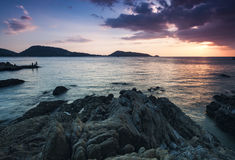 Beautiful seascape sunset ,kalim, patong beach phuket thailand. Royalty Free Stock Images