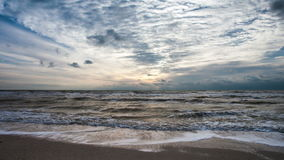 Beautiful seascape time lapse stock video