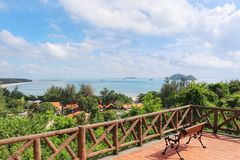 Beautiful seascape from top view. Beautiful color seascape see from top view songkhla thailand Stock Images