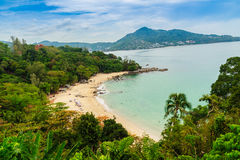 Beautiful seascape view of small and private beach among Kamala Royalty Free Stock Image