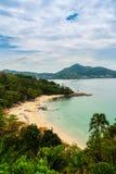 Beautiful seascape view of small and private beach among Kamala. Beach and Kalim Beach at Kathu District, Phuket, Thailand Stock Photos