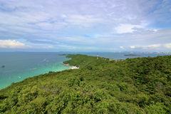Beautiful seascape ,view from top mountains Stock Photo