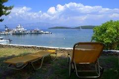 Beautiful seashore viewpoint Stock Images