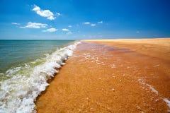 Beautiful seaside. A beautiful sunny seaside background stock photo