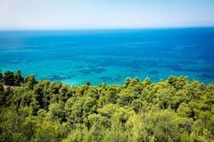 Seaside landscapes, top view Royalty Free Stock Image