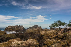 The beautiful seaside rocks at  Kung Wiman, Thailand. Royalty Free Stock Image