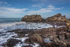 The beautiful seaside rocks at  Kung Wiman, Thailand. Royalty Free Stock Images