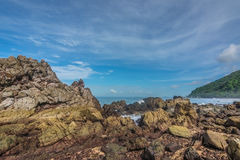 The beautiful seaside rocks at  Kung Wiman, Thailand. Stock Images