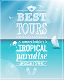 Beautiful seaside view poster. Stock Photography