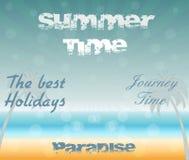 Beautiful seaside view poster. Royalty Free Stock Photo